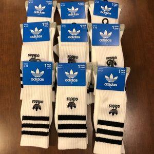 Adidas Crew Soaks lot of 9 pairs